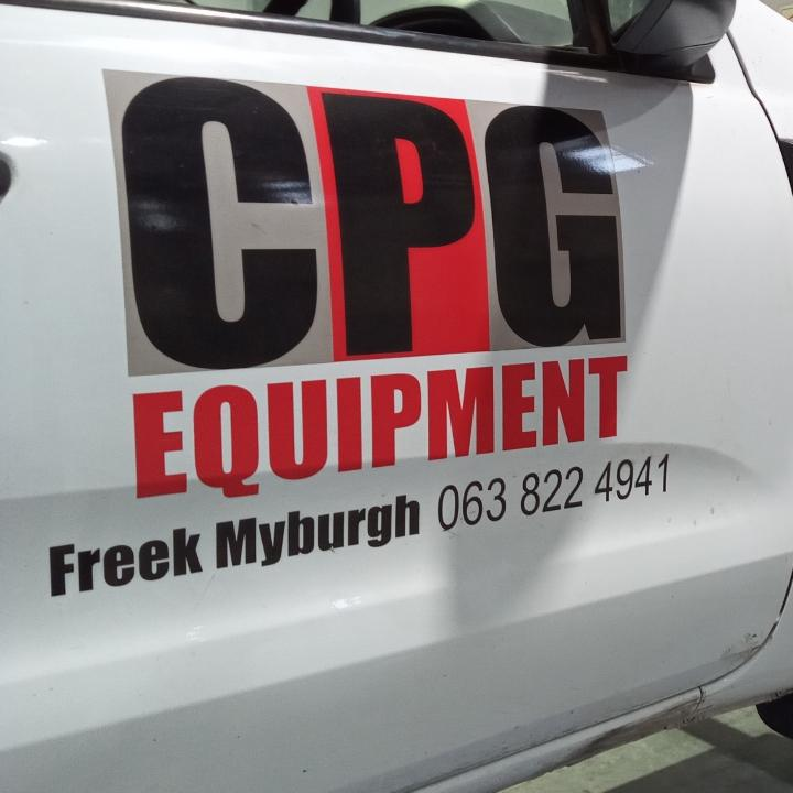 CPG Equipment decals