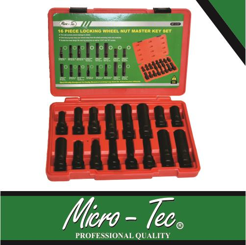 Wheel Lock Nut Master Key Set 16 Pieces